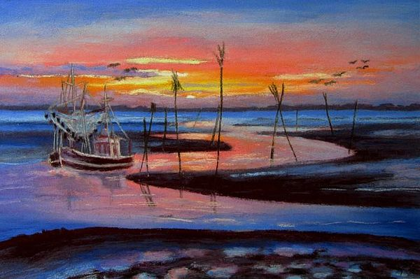 Abbildung: Pastellbild von Barbara Finke