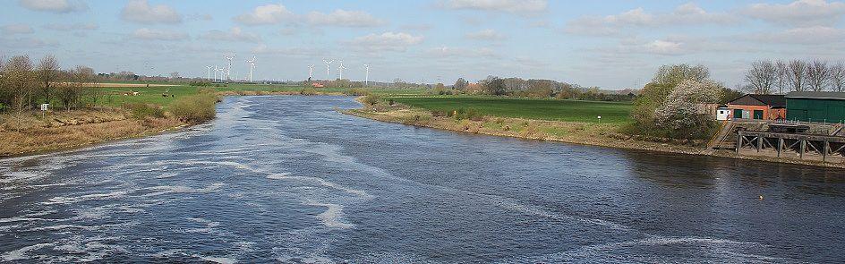 Blick auf die Weser bei Doerverden - Ströhmer, 2015