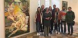 Foto: Die Gruppe Werkstatt Malerei mit Ursula Hoffmann. Vorstand Lippische Gesellschaft für Kunst ( H. Tomaszewski Copyright)