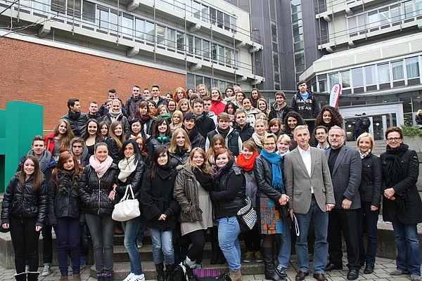 Foto (Patrick Kleibold): Schülerinnen und Schüler besuchten am Welttag der Philosophie die Universität Paderborn.