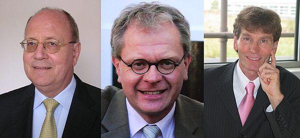 Fotos (v.l.): Prof. Dr. Joachim Herzig, Prof. Dr. Matthias Rath, Prof. Dr. Nikolaus Risch