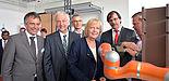 Foto (Universität Bielefeld): Rektor Prof. Dr.-Ing. Gerhard Sagerer, Präsident Prof. Dr. Wilhelm Schäfer, Prof. Dr. Günter Maier,