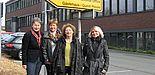 Foto (Marktplatz für Bürger-Engagement) v. li.: Annette Bechthold, Ute Markworth (beide Marktplatz für Bürger-Engagement), Hilli Kassner-Steinmüller (Projektleiterin) und Martina Schrade (International Office).