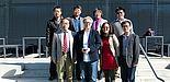 Foto (Dirk Fischer): Vorne v. l. n. r.: Prof. Yuan Haiwen, Prof. Bärbel Mertsching, Prof. Hu Xiaoguang , Prof. Tao Fei, hinten v. l. n. r.: Prof. Wang Tian, Prof. Xiao Hong, Prof. Fu Li und Prof. Li Yang.
