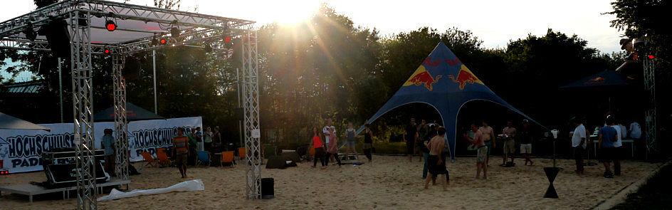 Sonnenuntergang auf der Beach Anlage