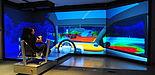 Foto (HNI): Virtual Prototyping von innovativen Scheinwerfersystemen im HD-Visualisierungscenter des Heinz Nixdorf Instituts.