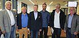 Foto: Stellvertretend für Wirtschaft, Stadt und Universität Paderborn, von links: Bruno Weber, Herbert Pfau, Dietrich Honervogt, Mario Seidl, Peter Steudel, Roman Wodniok.