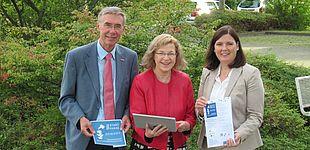Veranstalter Startphase: Organisatoren der Startphase, v. l.: Rainer Dörr (HWK), Maria Reimer (WFG), Claudia Auinger (IHK)