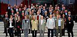 Foto (Universität Paderborn, Patrick Kleibold): Mehr als 40 ehemalige Professoren trafen sich zum neunten Emeriti-Treffen im Hörsaalgebäude L. Die Treffen finden seit Wintersemester 2008 mit großem Erfolg zweimal im Jahr statt.