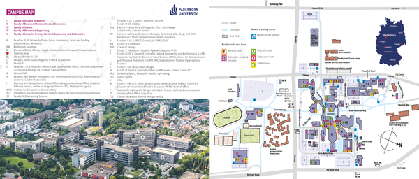 Pace Campus Map.Universitat Paderborn How To Get Here Campus Map