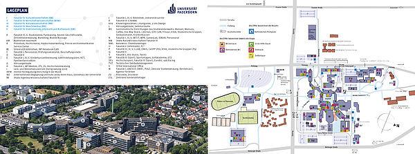 Lageplan der Universität Paderborn