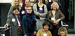 Foto (Heike Probst, Universität Paderborn): 40 Jahre feministische Debatten – Die Referentinnen und ihre Gastgeberinnen: Prof. Dr. Carol Hagemann-White, Dr. Irene Pimminger, Prof. Dr. Elisabeth List, Prof. Dr. Sigrid Metz-Göckel (1. Reihe von unten v.
