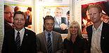 Foto (Universität Paderborn): Erfolgreiche MEiM-Gespräche: Uni-Vizepräsident Prof. Dr. Bernd Frick (2. v. l.) mit den Verantwortlichen des Uni-MEiM-Teams v. l.: Christoph Schön (Leiter Hochschulnetzwerk & Fundraising), Ramona Wiesner (Leiterin des Ref