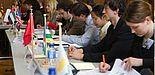 Foto: Modellierte Sitzung der Vereinten Nationen