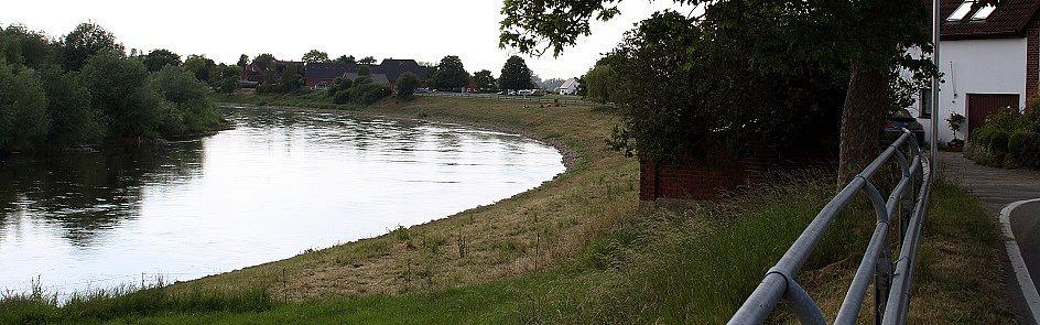 Blick auf die Weser bei Kohlenstaedt - Ströhmer, 2015