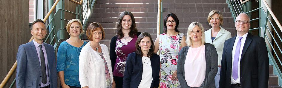 Die Ansprechpartner des Forschungsreferats an der Uni Paderborn Foto: Universität Paderborn, Lena Schäfers