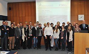 Foto (Universität Paderborn): Die Teilnehmerinnen und Teilnehmer tauschten sich zu Masterstudiengänge im Maschinenbau aus.