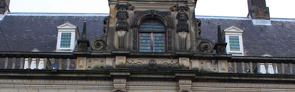 Teil der Leidener Rathausfassade - Ströhmer, 2014