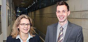 Foto (Universität Paderborn): Prof. Dr. Christine Silberhorn und Prof. Dr. Thomas Zentgraf.