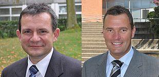Fotos (Universität Paderborn): Prof. Dr. rer. nat. Thomas Tröster (r.) und Prof. Dr.-Ing. Elmar Moritzer