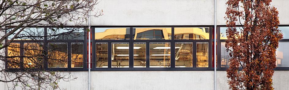 Blick auf Gebäude K.