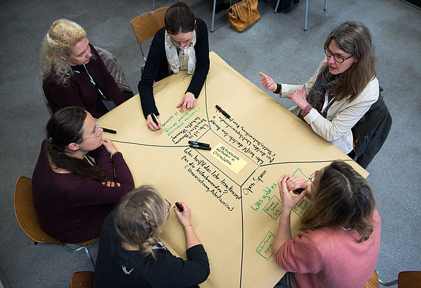 """Foto (Costa Belibasakis/TH Köln): Hochschuldidaktischer Workshop """"Practice what we teach – Mehr Didaktik für die Didaktik""""."""