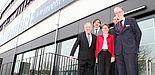 Foto (Universität Paderborn, Nina Reckendorf): (v. l. n. r.) Michael Laska, Gregor Engels, Gudrun Oevel und Johannes Blömer besprachen mit Michael Hange (rechts) Themen der IT-Sicherheit.