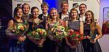 Foto: (v. l. n. r.) Diana Bauer, Dennis Fergland, Nicole Opiolka, Prof. Dr. Nikolaus Risch, Lisa Kaup, Dieter Thiele, Melissa Naase, Uli Kussin, Cornelia Raetze.