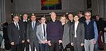 Foto: Stimmten sich auf das neue Jahr ein: Volker Peckhaus (Dekan Fakultät für Kulturwissenschaften / v. l.), Hans Hobelsberger (Dekan Fachbereich Theologie an der KatHO), Rüdiger Althaus (Rektor der Theol. Fakultät), Andreas Junker, Nils Petrat (kath