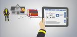 Grafik (RescueLab): Übungsszenarien mit dem Tablet steuern.