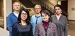 """Foto (Universität Paderborn, Johannes Pauly): Das interdisziplinäre Forschen kennzeichnet das innovative DFG-Forschungsprojekt """"InterGramm"""" beim Zusammenspiel dreier Fakultäten. Das Projektteam (von links): Prof. Dr. Eyke Hüllermeier (Fakultät f"""