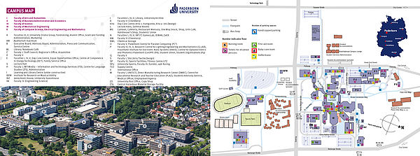 Campus map of Paderborn University