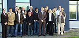 Foto: Die Teilnehmer der Szenarioübung: Studierende der Wirtschaftswissenschaften der Universität Paderborn, Dr. Ralf Ohlendorf von der Fakultät für Wirtschaftswissenschaften, Almut Brünger und Stefan Holst von der UNITY AG.