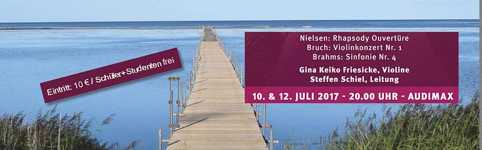 Konzerte im Juli 2017:   Nielsen, Bruch und Brahms