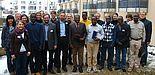 Foto (Universität Paderborn, Martin Decking): Leiten die Veranstaltung: Prof. Dr. Michael Hofmann (vorn, 3. v. li.) und Prof. Dr. Norbert Otto Eke (vorn, 4. v. li.). Von der ersten Paderborner Tagung zur deutsch-afrikanischen Literaturwissenschaft erhoff