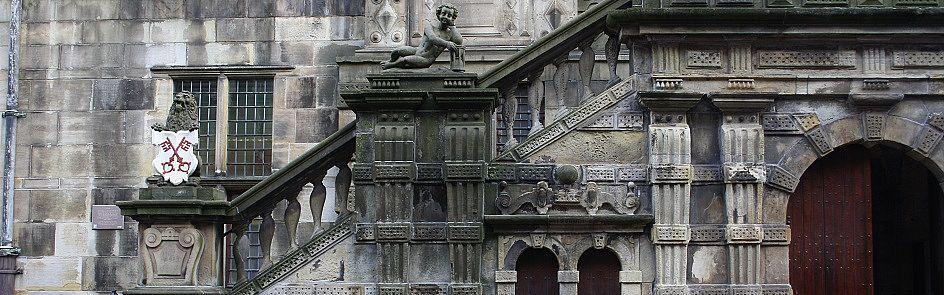 Treppen an der Leidener Rathausfassade - Ströhmer, 2014