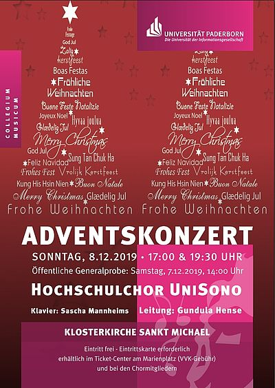 Plakat Adventskonzert 08.12.2019