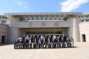 Foto (Zhiquan Lin): Gemeinschaftsfoto nach der ersten gemeinsamen CDC Sitzung: Prof. Dr. Lianxiang Ma und weitere Mitglieder der QUST, Prof. Dr. Birgitt Riegraf und Delegation der Universität Paderborn.