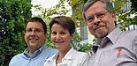 Foto (Nadija Pejic): Der Vorstand des neuen SFB (von links nach rechts): Herr Prof. Dr. Marco Platzner, Frau Prof. Dr. Heike Wehrheim und Herr Prof. Dr. Friedhelm Meyer auf der Heide.