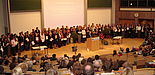 Foto: Staatsexamensfeier für Lehramtsabsolventen der Universität Paderborn im vollbesetzten Audimax