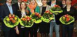 Foto: Ehrende und Geehrte (v. l.): Bernd Nowotzin, Hans Laven, Kristin Henkelmann, Corinna Petermeier, Kathrin Hahne, Rouven Meierjohann, Prof. Dr. Michael Weiß und Katrin Hollendung.