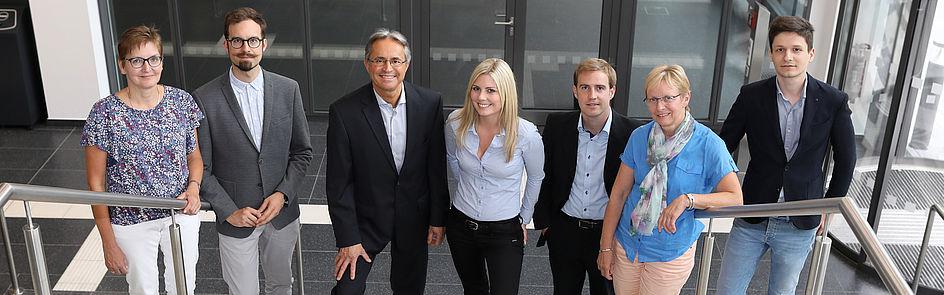 Das Team der Stabsstelle Presse und Kommunikation.