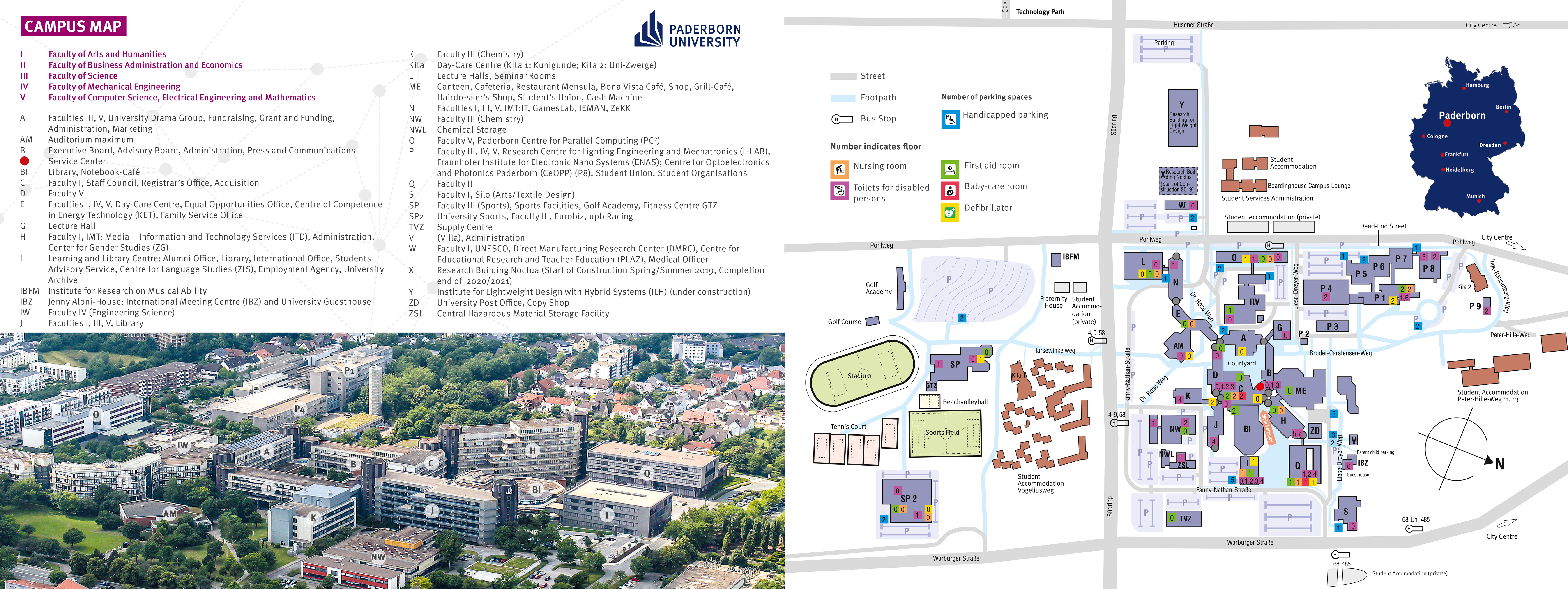 Universität Paderborn - How to get here / campus map on