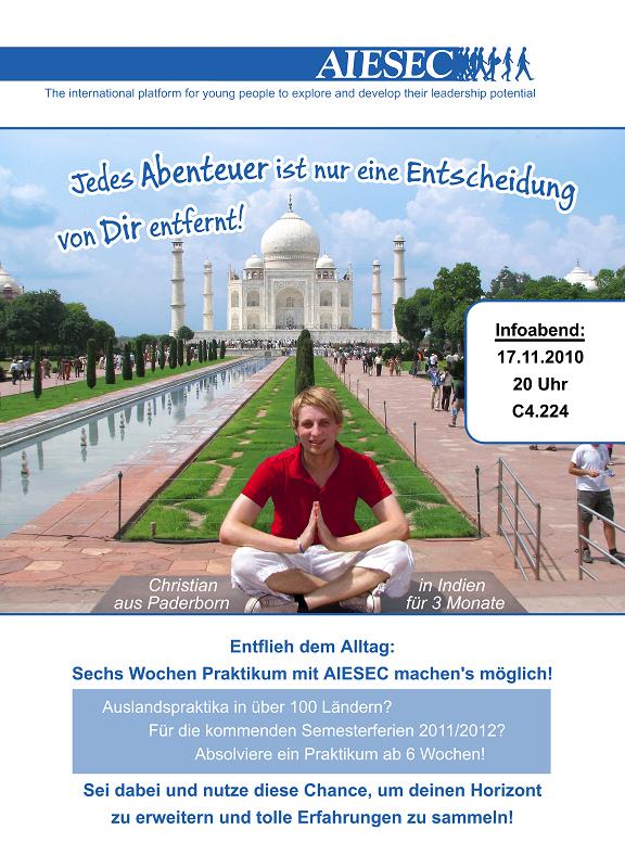 Abbildung: AIESEC-Flyer Vorderseite